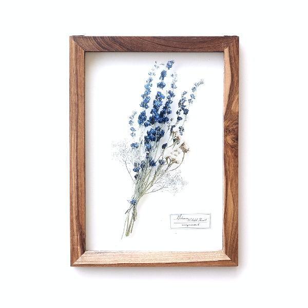 アートフレーム ナチュラル おしゃれ アートパネル モダン インテリア 壁飾り 植物 グリーン ガラス 木製 ウォールデコ フラワープリントのガラスフレームB [gfc7543]
