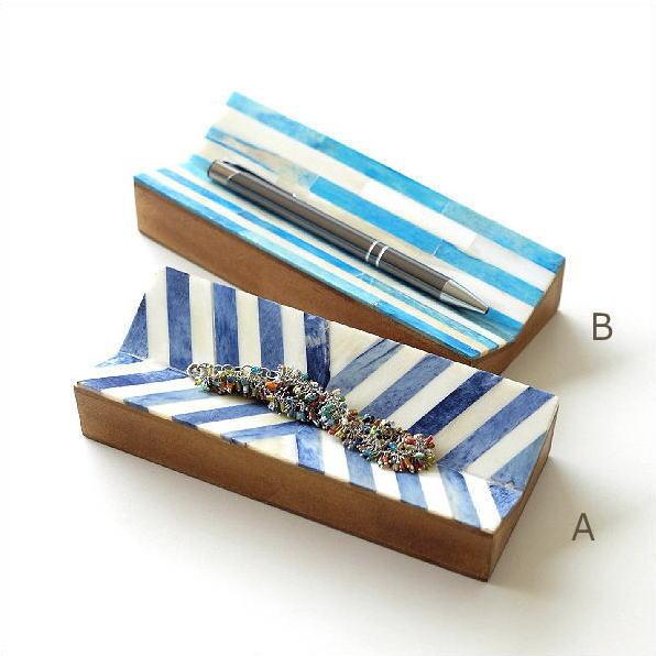 ペントレー ボーン 木製 おしゃれ デザイン ペン置き ペントレイ 小物置き メガネ置き ボーンペントレイ2タイプ [gfc7794]