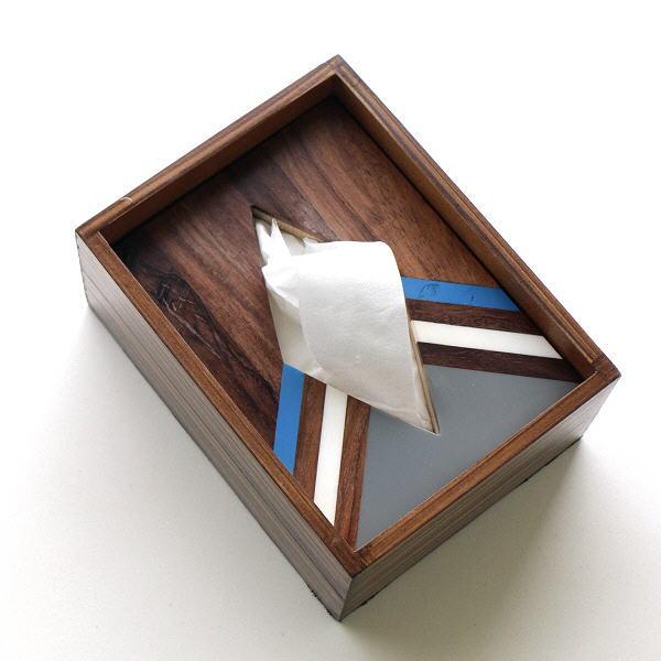 ポケットティッシュケース おしゃれ 木製 箱 ふた付き 天然木 小さい コンパクト ボーンとウッドのポケットティッシュBOX A [gfc9093]