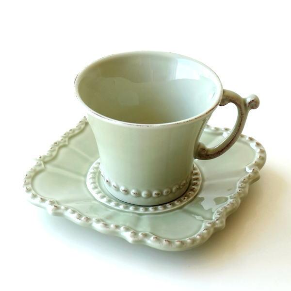 カップ&ソーサー おしゃれ 陶器 コーヒーカップ お皿 プレート セット 洋食器 ティーカップ バーレスクC&S OL [hal0849]