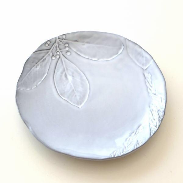 お皿 プレート 陶器 おしゃれ かわいい 可愛い シンプル 洋食器 ハーバリウムプレート フラワー [hal0851]