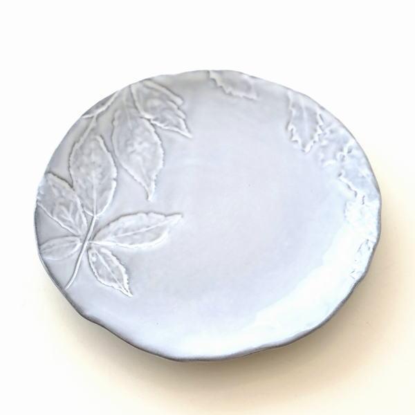 お皿 プレート 陶器 おしゃれ かわいい 可愛い シンプル 洋食器 ハーバリウムプレート リーフ [hal0855]