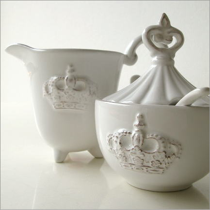 クリーマー シュガーポット おしゃれ 陶器のシュガー&クリーマー