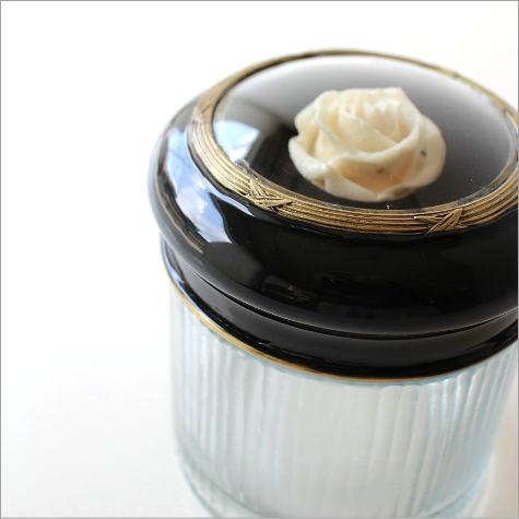 ガラスケース 小物入れ ふた付き アクセサリーボックス レトロ エレガント アンティークなローズガラスボックス