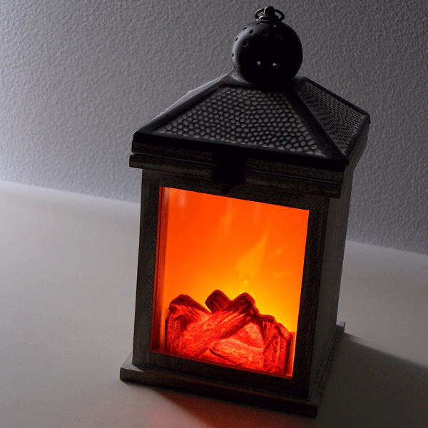 ランタン LED クリスマス ライト 照明 薪ストーブ 暖炉 デザイン おしゃれ 置物 オブジェ 飾り インテリア 雑貨 LEDブレージングランタン [hal3126]