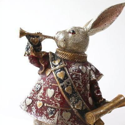 ウサギ うさぎ 置物 かわいい アンティーク 雑貨 インテリアオブジェ レトロなバロックラビット [hal3213]