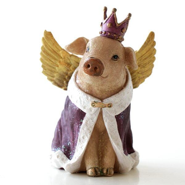 ブタ ぶた 置物 置き物 オブジェ おしゃれ かわいい 豚 インテリア 雑貨 クラウンピッグ [hal4665]