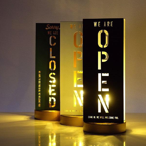 オープン クローズド OPEN CLOSED 看板 LED ライト 照明 おしゃれ モダン スタンド サイン オープン・クローズライト3カラー [hbr4039]