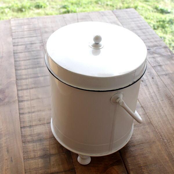 小物入れ スチール アイアン ふた付き 蓋つき おしゃれ 缶ボックス シンプル ゴミ箱 持ち手付き ロピタルリッドボックス [hbr4648]
