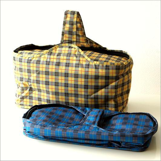 クーラーバッグ 保冷バッグ クーラーバスケット 折りたたみ たためる おしゃれ かわいい お弁当 アウトドア キャンプ ワンハンドルクーラー・バッグA 2カラー