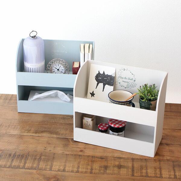 棚 シェルフ 2段 小物入れ 木製 スパイスラック 飾り棚 小物収納 調味料ラック スリム かわいい おしゃれ 2段小物ラック 2カラー [hbr7223]