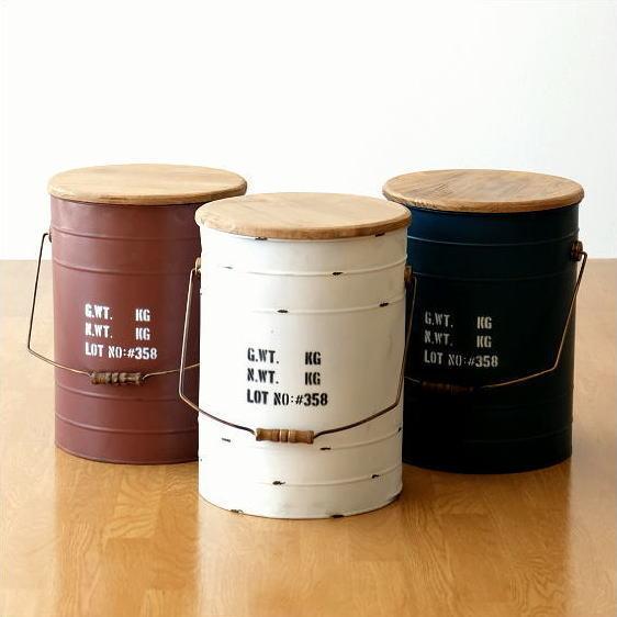 スチールBOXスツール 3カラー [hbr8501]