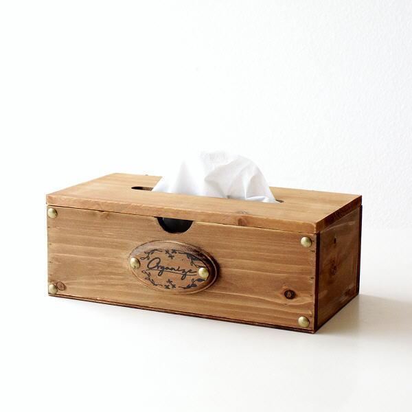 ティッシュケース 木製 おしゃれ ティッシュボックス 木 蓋付き ナチュラル 天然木 フラップ式 無地 ウッドティッシュボックス カルム [hbr8918]