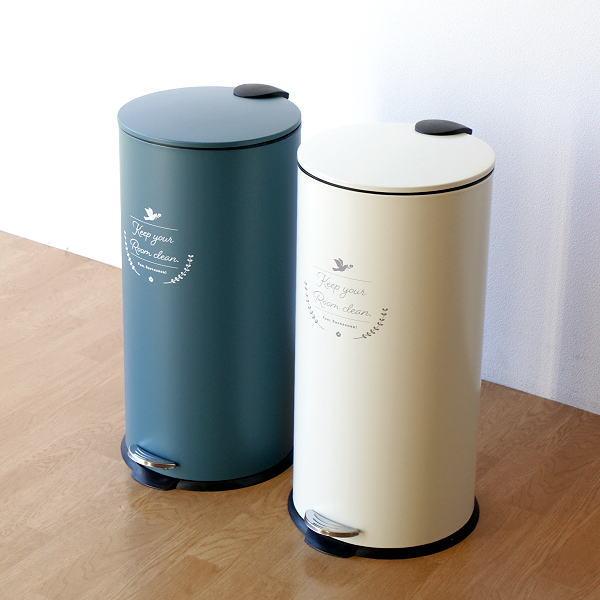 ペダルビン 27L ゴミ箱 ペダル式 ふた付き おしゃれ 洋風 かわいい キッチン ロワゾーペダルビン 2カラー [hbr9682]