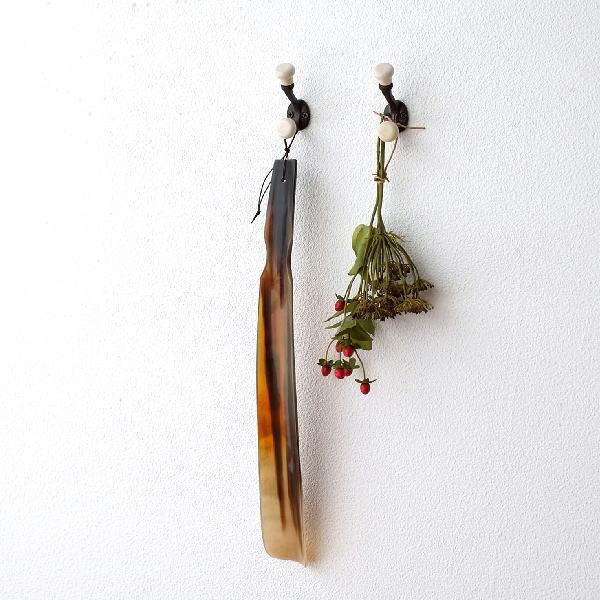 フック 壁 壁掛け おしゃれ アイアン 陶器 アンティーク レトロ 玄関 収納 アイアンと陶器のダブルフック 2個セット [hda1602]