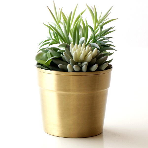 鉢カバー プランターカバー おしゃれ フラワーポット アンティーク 真鍮 植木鉢 モダン 鉢植え 観葉植物 スピニングポット 120 [hda4999]