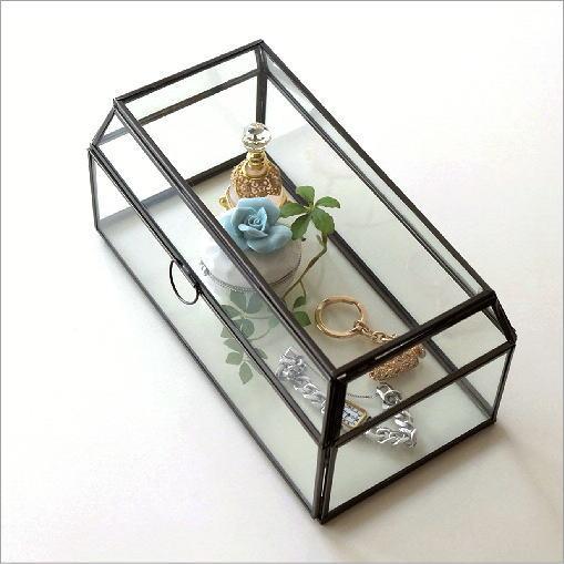 アイアンとガラスのコレクションケース