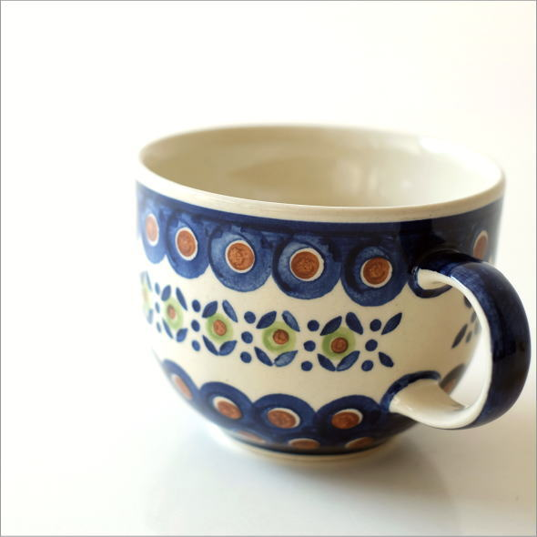 ポーランド陶器のスープカップD [hda9452]
