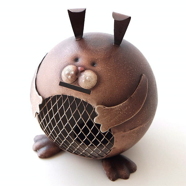 ブリキのオブジェ ウサギ貯金箱 [hgk2800]