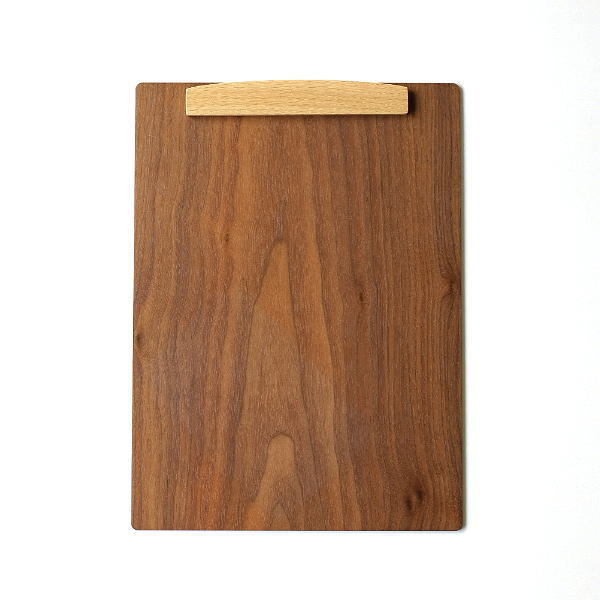 バインダー クリップボード A4 おしゃれ 縦横両用 木製 マグネット 磁石 クリップ 天然木 木のbinder ウォルナット [hkp2230]