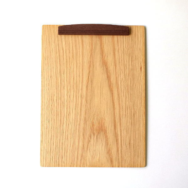 バインダー クリップボード A4 おしゃれ 縦横両用 木製 マグネット 磁石 クリップ 天然木 木のbinder ナラ [hkp2233]
