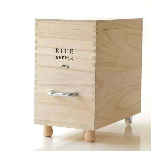 米びつ おしゃれ 桐 10kg スリム 米櫃 ライスストッカー お米 保存容器 防虫 キャスター付き 桐の米びつ L [ibk1150]