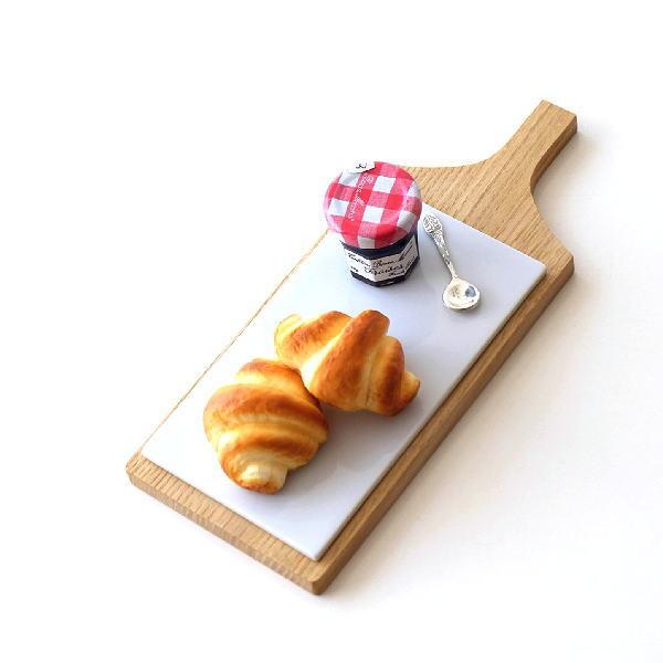 サービングプレート カッティングボード まな板 木製 おしゃれ 天然木 磁器 サービスプレート 日本製 陶板付木のプレート [ibk1636]
