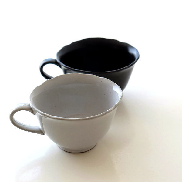 マグカップ おしゃれ アンティーク かわいい 北欧 陶器 シンプル レトロ クラシック 日本製 グラサージュカップ2カラー [ibk2279]