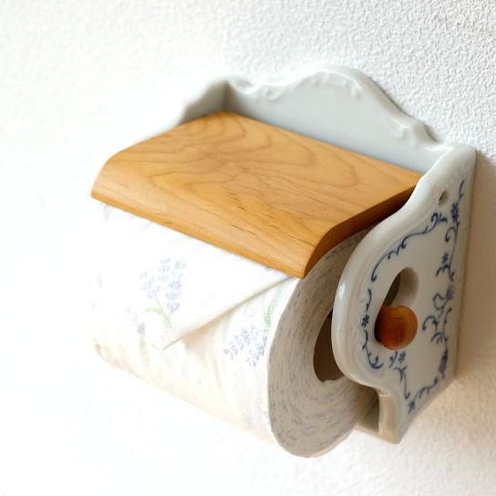 トイレットペーパーホルダー おしゃれ 北欧 かわいい 可愛い トイレットペーパー カバー ホワイト 白 デザイン 磁器のペーパーホルダー [ibk4322]