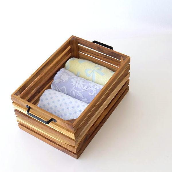 ツールボックス 木製 チーク アイアン 持ち手付き 収納ボックス 小物 アイアンとウッドのツールボックス 02 [ify0771]
