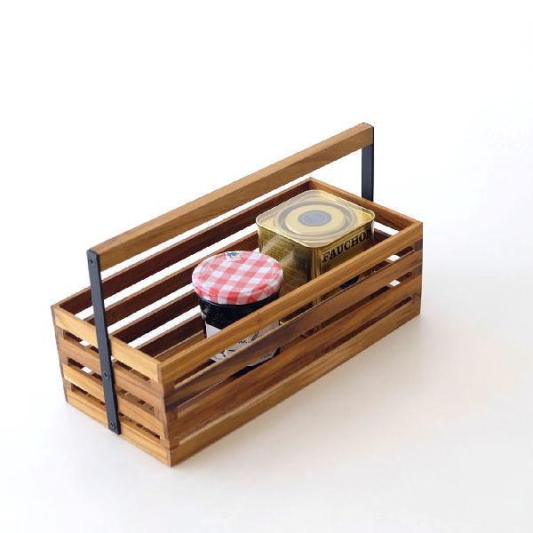 ツールボックス 木製 チーク アイアン 持ち手付き 収納ボックス 小物 アイアンとウッドのツールボックス 07 [ify8834]