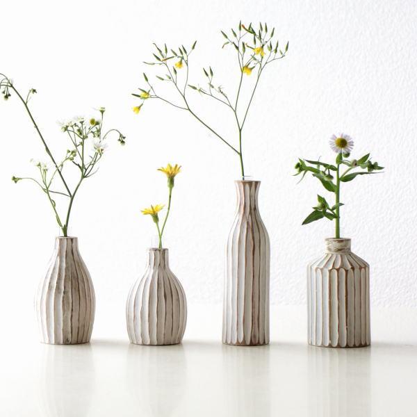 花瓶 フラワーベース 木製 チーク 小さい おしゃれ 花器 一輪挿し ウッドベース かわいい ウッドフラワーベースミニ WH4タイプ[ify9399]