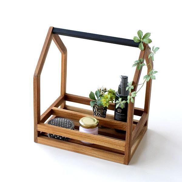 小物入れ 木製 チーク アイアン おしゃれ 整理ボックス トレー スパイスラック 卓上 収納 ラック 小物整理 アイアンとウッドのツールボックス 03 [ify9808]