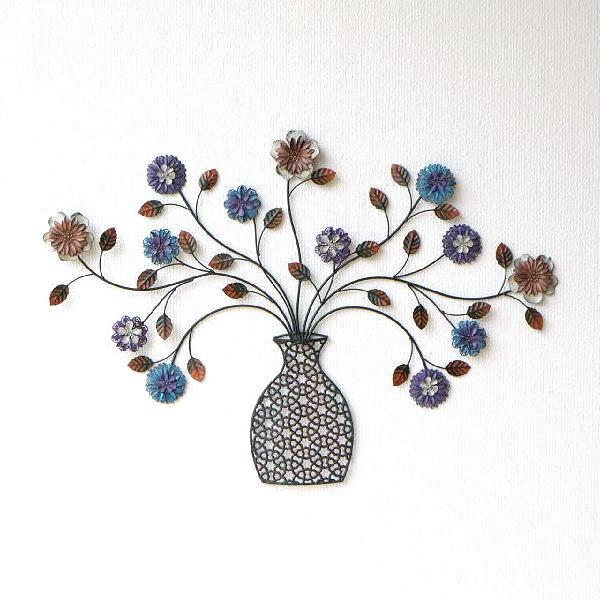 壁飾り アイアン 壁掛け おしゃれ フラワーベース インテリア 花 アートパネル かわいい アイアンの壁飾り フラワーベース [itn5607]