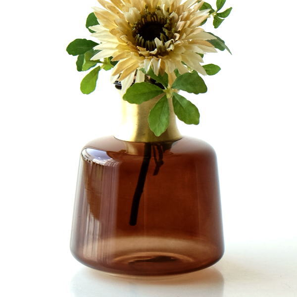 花瓶 おしゃれ ガラス 一輪挿し フラワーベース かわいい ガラスのシンプルベースA [kan0882]