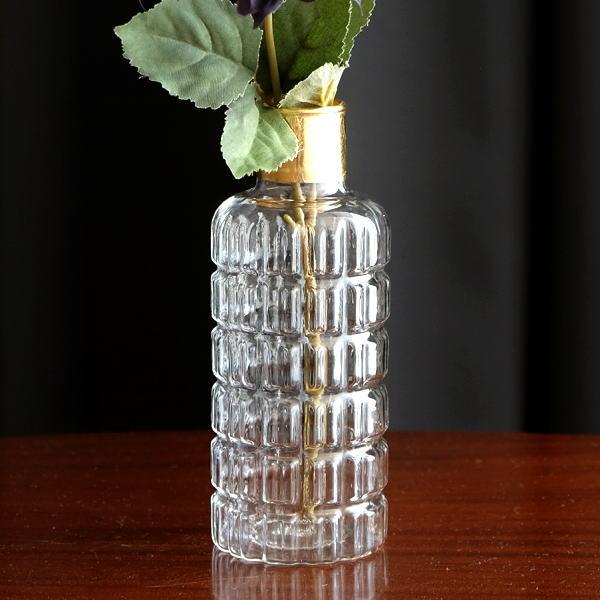 花瓶 おしゃれ ガラス 一輪挿し フラワーベース ガラスのシンプルベースB [kan0883]
