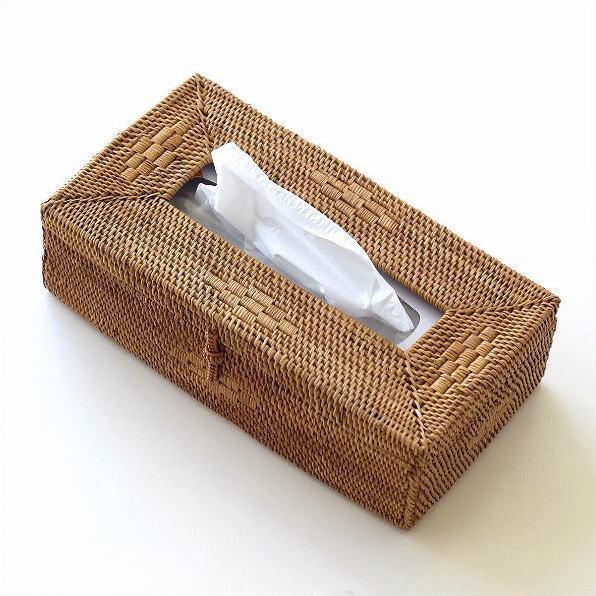 ティッシュケース アタ バリ アジアン おしゃれ シンプル ナチュラル 自然素材 かわいい ティッシュボックス アタ ティッシュBOX [kan1060]