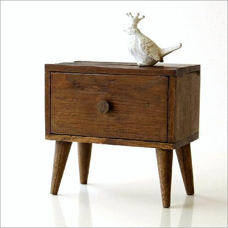 小物入れ 引き出し 木製 ミニチェスト チーク材 おしゃれ かわいい アジアン エスニック モダン レトロ アンティーク チーク引き出しスモールボックス