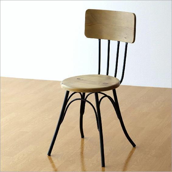 一人掛けチェアー 1人掛け 椅子 木製 アイアン 天然木 おしゃれ シンプル デザイン モダン ナチュラル ウッド&アイアンチェアー【送料無料】