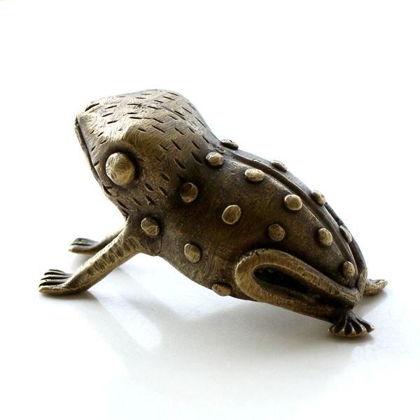 ガーナのブラスカエルのオブジェ [kan4206]