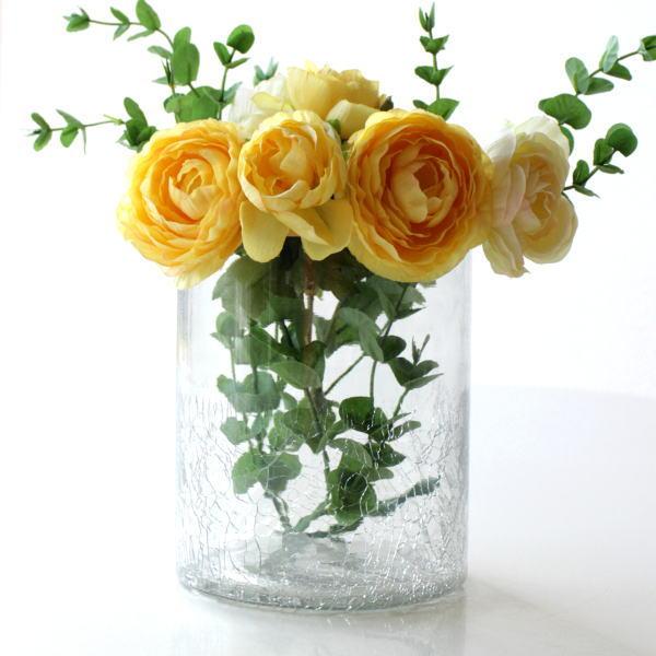 花瓶 ガラス おしゃれ フラワーベース シンプル レトロ アンティーク インドの手づくりガラスベース A [kan4218]