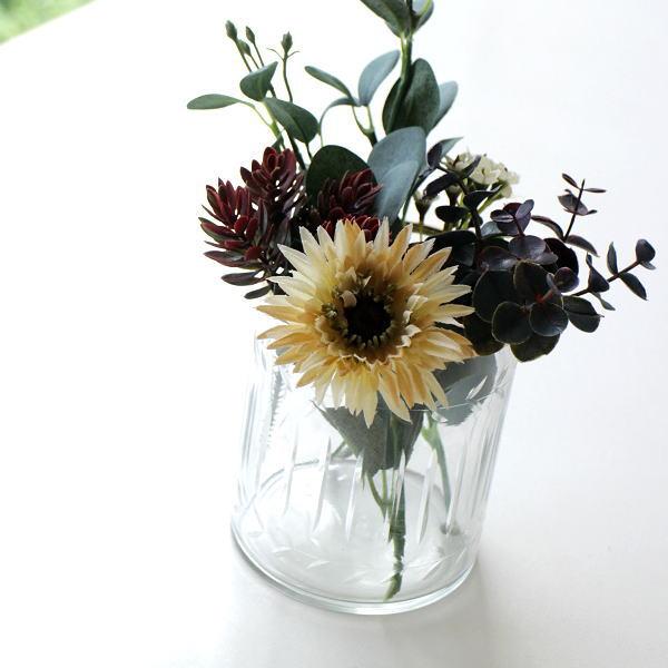 花瓶 ガラス おしゃれ フラワーベース シンプル レトロ アンティーク インドの手づくりガラスベース B [kan4243]