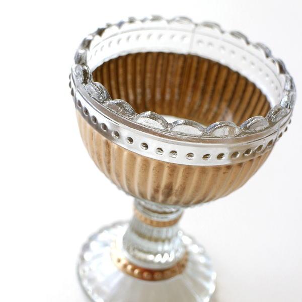 花瓶 ガラス おしゃれ フラワーベース かわいい レトロ アンティーク インドの手づくりガラスベース D [kan4247]