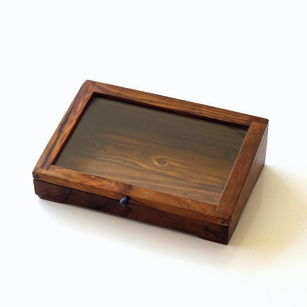 ショーケース 木製 ディスプレイケース コレクションケース 卓上 ガラスケース アクセサリーケース 天然木 無垢 シーシャムウッドのショーケース [kan4875]