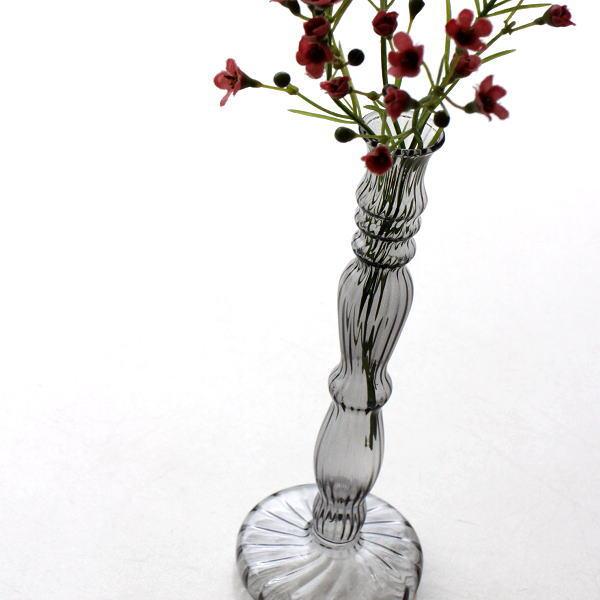 花瓶 花びん おしゃれ ガラス 一輪挿し フラワーベース 花器 シングルフラワーベース L [kan4976]