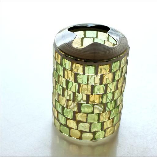 モザイクガラスの歯ブラシスタンドB [kan5556]