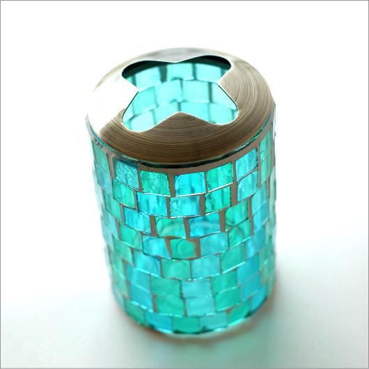 モザイクガラスの歯ブラシスタンドA [kan5557]