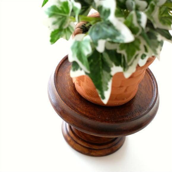 小物置き おしゃれ 木製 トレー トレイ アジアン アンティーク シーシャムウッドミニスタンドL [kan5636]