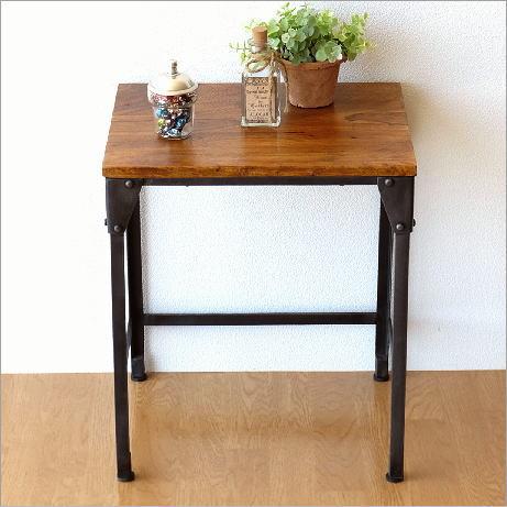 シーシャムとアイアンのネストテーブルS 【送料無料】 [kan5959]