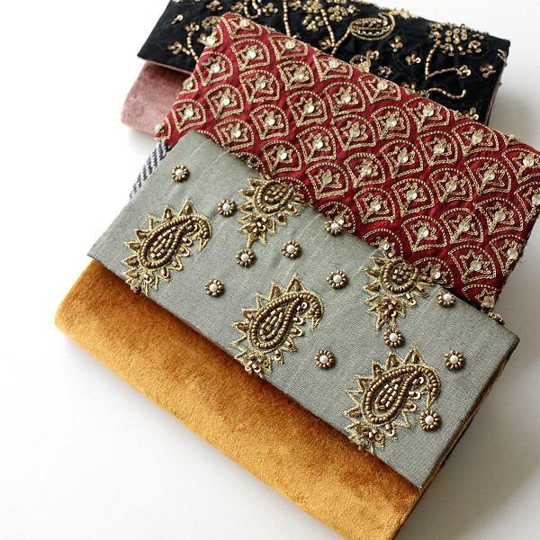 クラッチバッグ ショルダーバッグ チェーン レディース 小さめ ハンドバッグ セカンドバッグ ビーズ刺繍クラッチバッグ 3タイプ [kan6058]